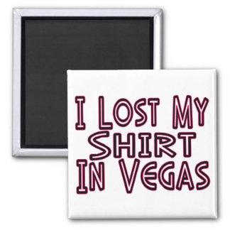 Camisa perdida en Vegas Imán Cuadrado