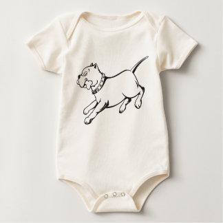 Camisa Perro-Orgánica del bebé de la enredadera