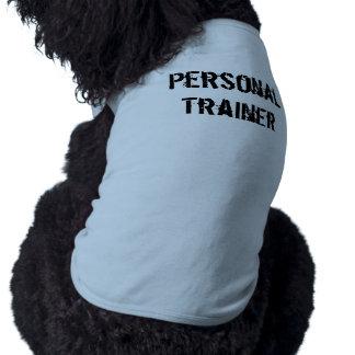 Camisa personal del perro del instructor playera sin mangas para perro