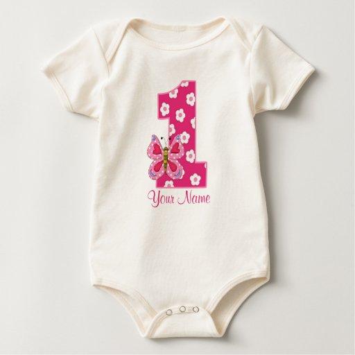 Camisa personalizada 1r cumpleaños de los chicas