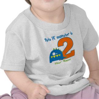 Camisa personalizada 2do cumpleaños del monstruo d