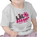 Camisa personalizada cebra del rosa de la pequeña