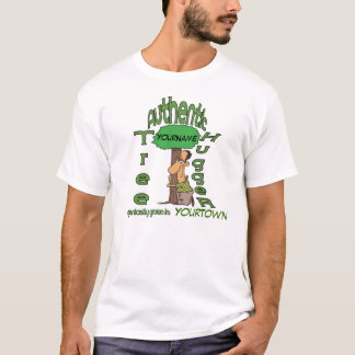 Camisa personalizada de Hugger del árbol