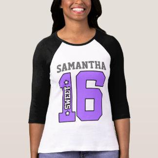 Camisa personalizada del dulce dieciséis