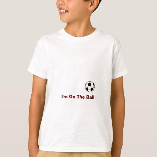 Camisa personalizada del fútbol con la bola
