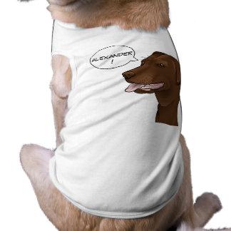 Camisa personalizada del perro de Labrador del Playera Sin Mangas Para Perro