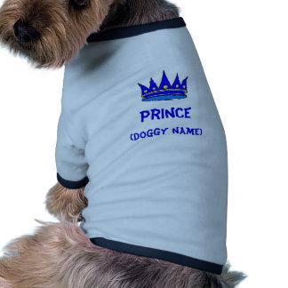 Camisa personalizada del perro del príncipe (coron camisetas de mascota
