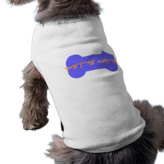 Camisa personalizada hueso masticada azul 4 del playera sin mangas para perro