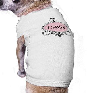 Camisa personalizada lámpara elegante negra rosada playera sin mangas para perro