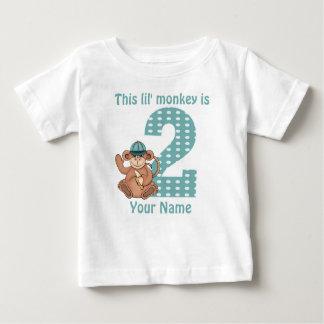 Camisa personalizada mono del cumpleaños de Lil