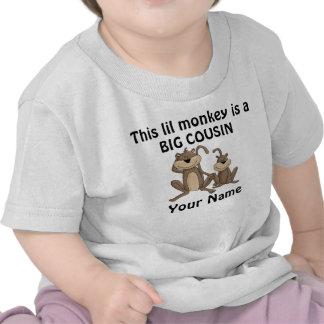 Camisa personalizada mono grande del primo