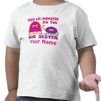 Camisa personalizada monstruo de la hermana grande