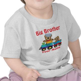 Camisa personalizada tren del oso de hermano mayor