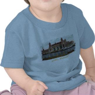 Camisa pintada del bebé de la isla de Ellis