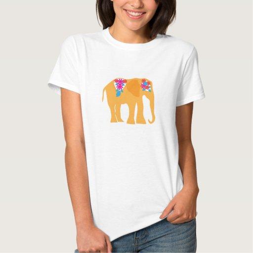 Camisa pintada del elefante