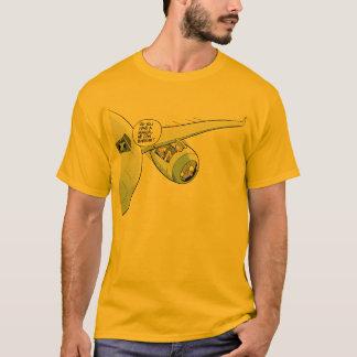 Camisa plana de la aviación del dibujo animado de