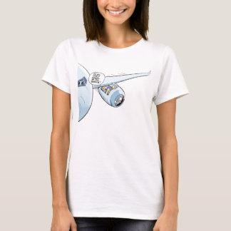 Camisa plana divertida de la aviación del dibujo