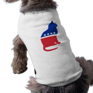 Camisa política del gato para los perros playera sin mangas para perro