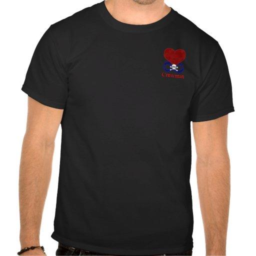 Camisa polivinílica de la tripulante de Rogelio