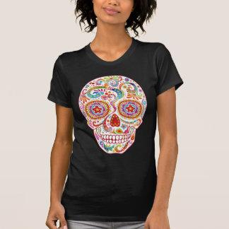 Camisa psicodélica del cráneo del azúcar