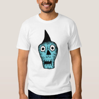 Camisa punky azul del cráneo