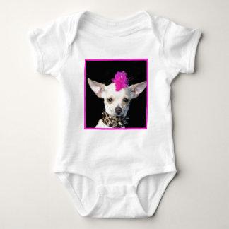 Camisa punky del bebé de la chihuahua