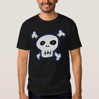 Camisa punky negra del cráneo