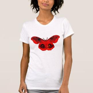 Camisa punky retra fresca de la polilla roja de la