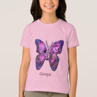 Camisa púrpura de la chispa de la mariposa