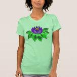 Camisa púrpura de la flor de Lotus
