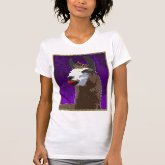 Camisa púrpura de la llama del drama - logotipo