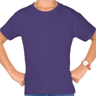 Camisa púrpura del arte del dibujo animado del gat
