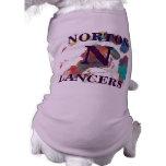 Camisa púrpura del perro de los lanceros de Norton Camisetas De Mascota