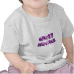 camisa púrpura y blanca de poco cazador del fantas