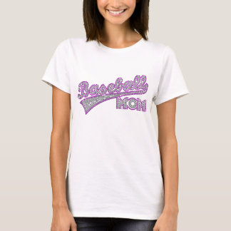 Camisa púrpura y gris de la mamá del béisbol