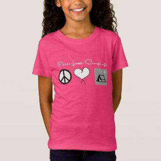 Camisa que acampa del amor de la paz para los