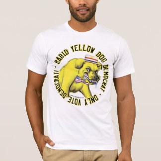 Camisa rabiosa de Demócrata del perro amarillo