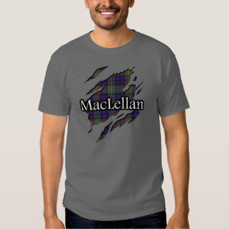 Camisa rasgada tartán de MacLellan del clan