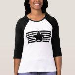 Camisa rebelde del raglán de las señoras del logot