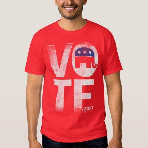 Camisa retra del republicano 2012 del voto
