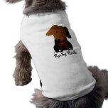 Camisa rocosa del perro playera sin mangas para perro