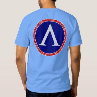 Camisa roja, blanca y azul de Sparta de la lambda