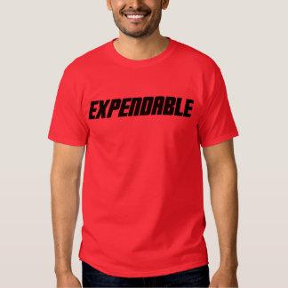 Camisa roja consumible