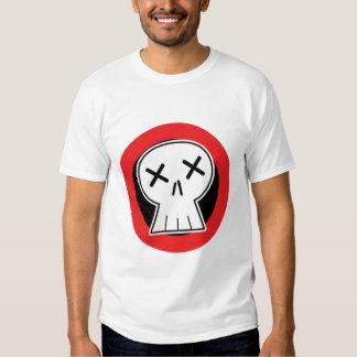 """Camisa roja de la blanco del cráneo """"muerto"""""""