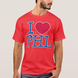 Camisa roja de la camisa de I <3 PHL (roja/azul)