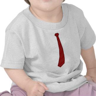 Camisa roja de la corbata