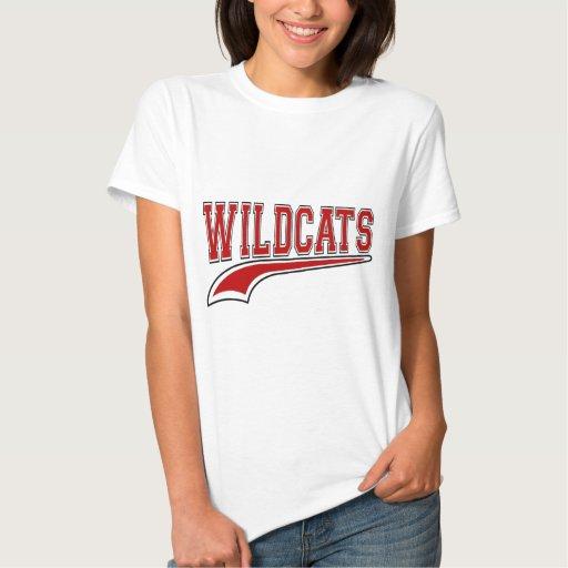 Camisa (roja) de la mascota de los gatos monteses