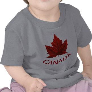 Camisa roja del bebé de la hoja de arce de la