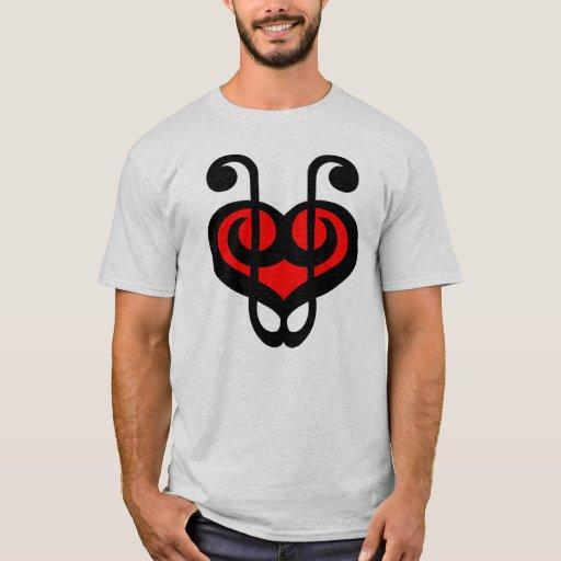 Camisa roja del corazón del Clef agudo