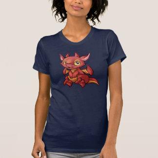 Camisa roja del dragón de Chibi